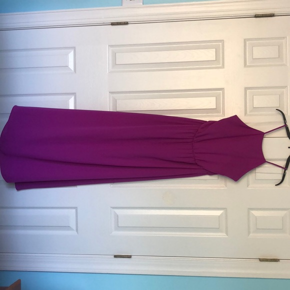 Floor length, backless, BRIGHT PUPRLE dress